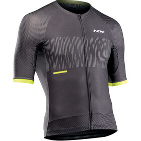 Northwave Storm Air Jersey Korte Mouwen Heren, anthracite/yellow fluo